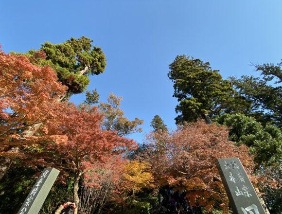 円覚寺の門柱と石段